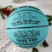 Dad to Son - You Will Never Lose - Basketball Light Blue