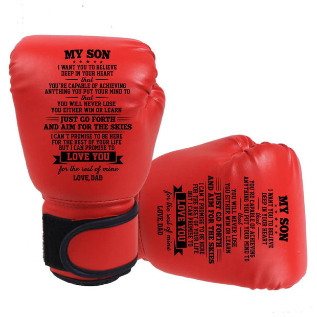 Dad to Son - You Will Never Lose -  A Pair Of  Boxing Gloves