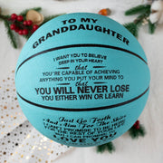 To My GrandDaughter - You Will Never Lose - Basketball Light Blue