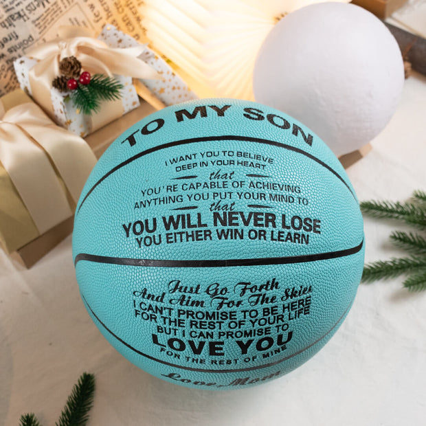Mom to Son - You Will Never Lose - Basketball Blue