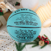 Mom to Son - You Will Never Lose - Basketball Light Blue