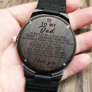 SON TO DAD - I LOVE YOU | ENGRAVED WOODEN WATCH