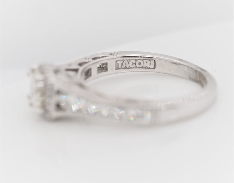 TACORI Round Cut Diamond 18K White Gold Engagement Ring