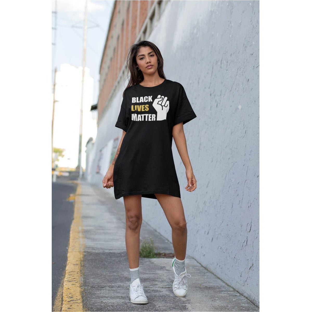 Black Live Matter T-Shirt Dress