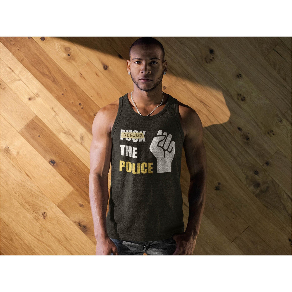 Defund the Police Men's Premium Tank
