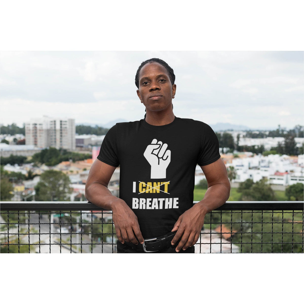 I Can't Breathe Men's Premium Organic T-Shirt