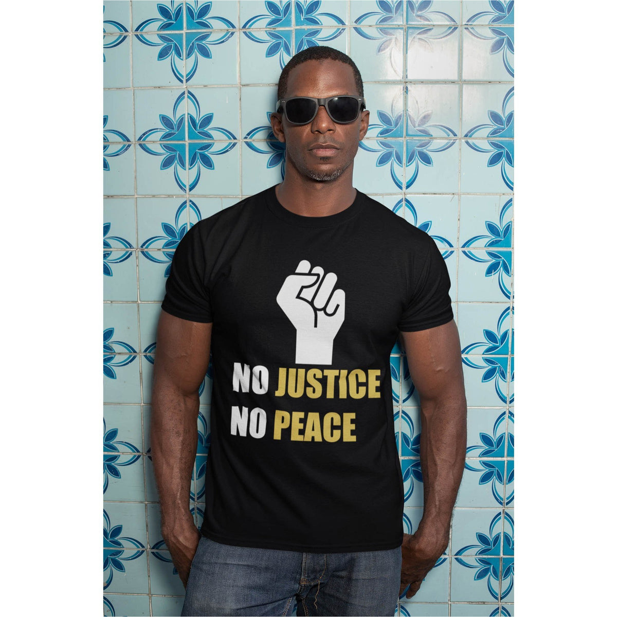 No Justice No Peace Men's Premium Organic T-Shirt