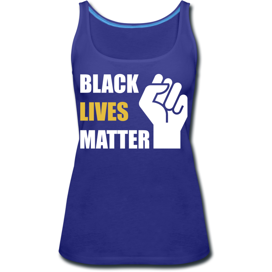 BLM Women's Premium Tank Top - royal blue