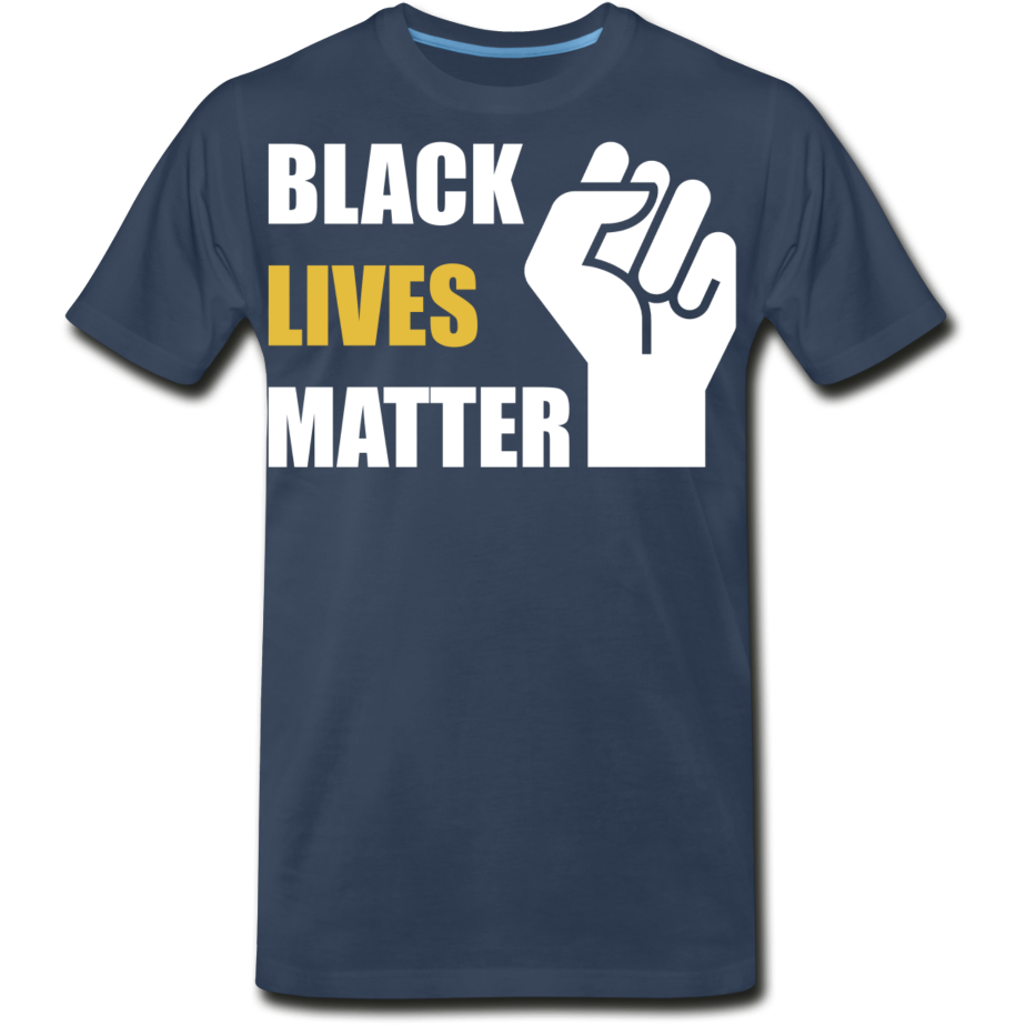 BLM Men's Premium Organic T-Shirt - navy