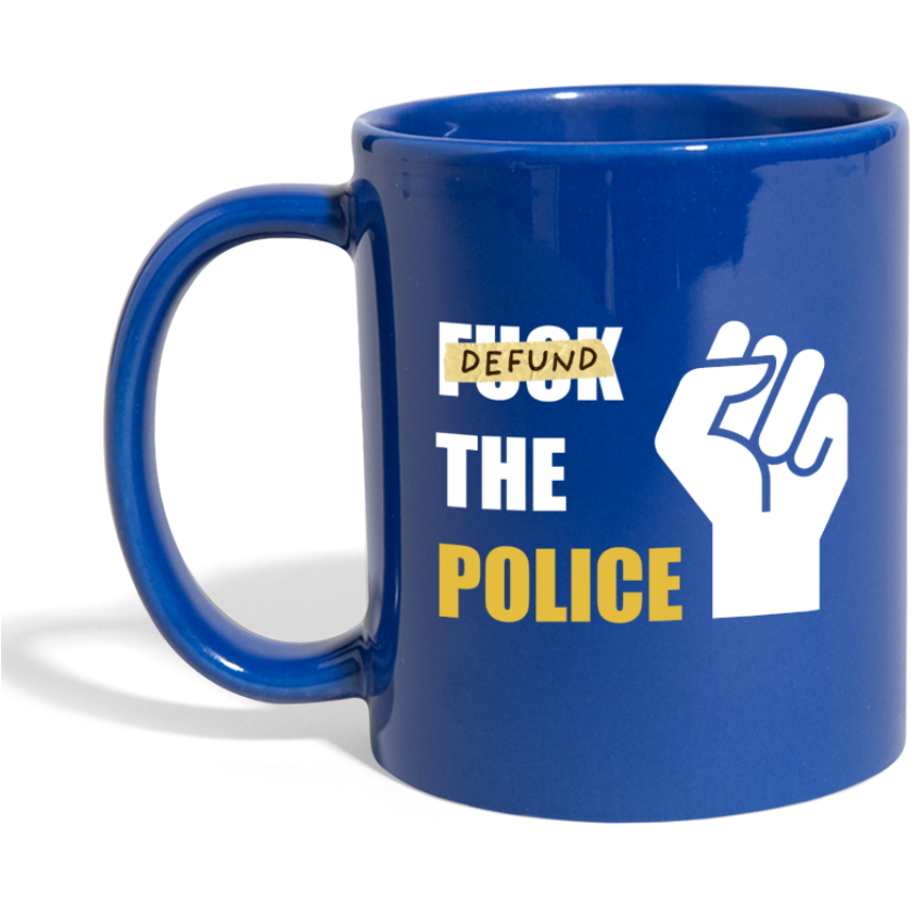 Defund Mug - royal blue