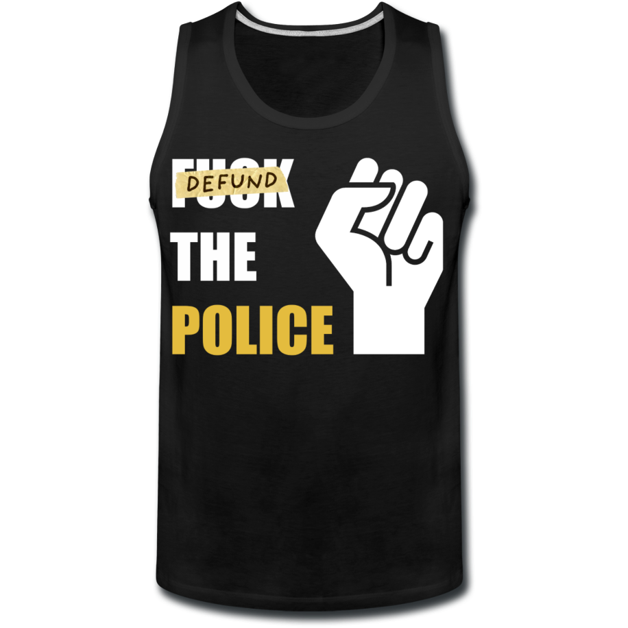 Defund the Police Men's Premium Tank - black