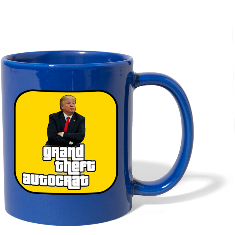 Grand Theft Autocrat Mug - royal blue