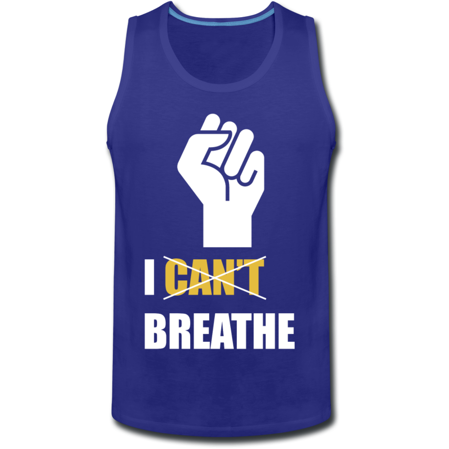 I Can't Breathe Men's Tank - royal blue
