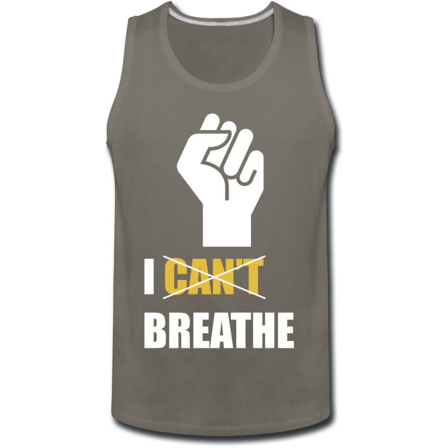I Can't Breathe Men's Tank - asphalt gray