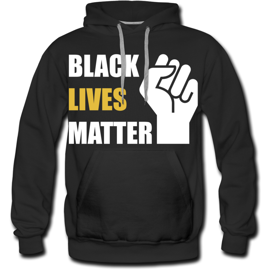 Black Lives Matter Men's Premium Hoodie - black