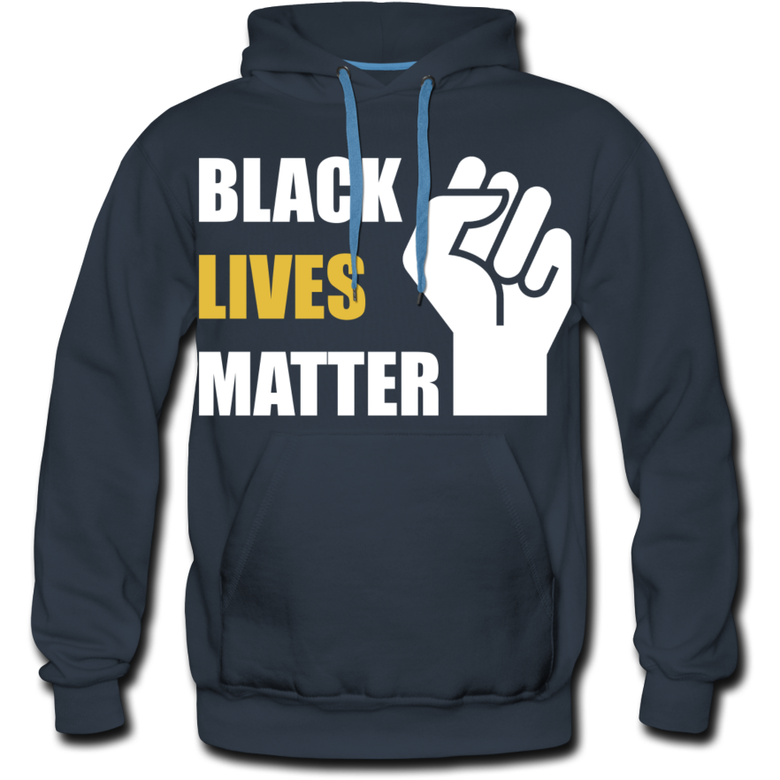 Black Lives Matter Men's Premium Hoodie - navy