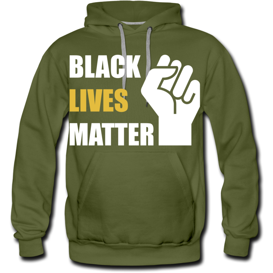Black Lives Matter Men's Premium Hoodie - olive green