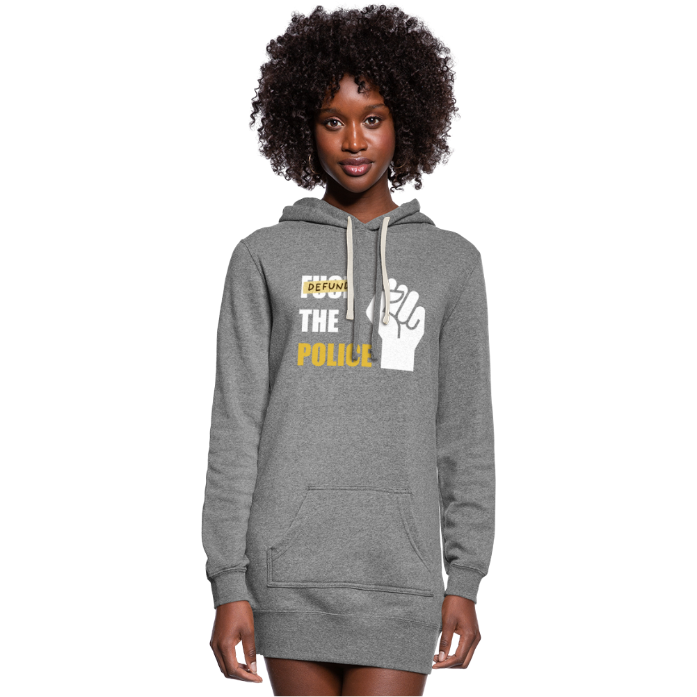 Defund the Police Women's Hoodie Dress - heather gray