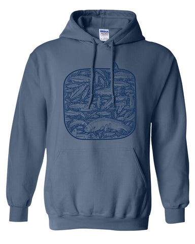 100 Fish Day Hoody Fly Fishing Hoody - Stripn Flywear