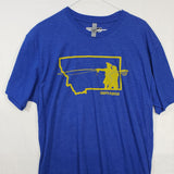 Large Go West Montana T shirt $8 Fly Fishing T shirt - Stripn Flywear
