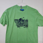 Large Montana Splash T shirt $8 Fly Fishing T shirt - Stripn Flywear