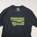 Large Montana Topo Trout T shirt $8 Fly Fishing T shirt - Stripn Flywear