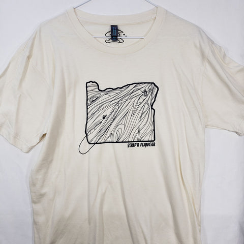 Medium Oregon Rise T shirt $9 Fly Fishing T shirt - Stripn Flywear