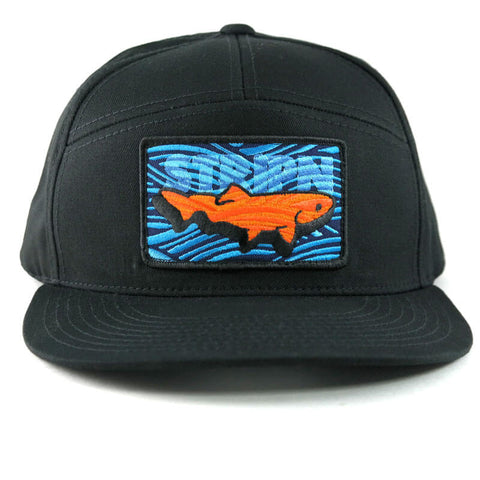 7-Panel Snapback Fly Fishing Hat - Stripn Flywear