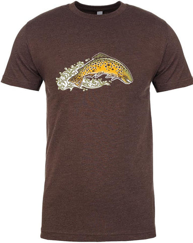 Brown Trout T shirt Fly Fishing T shirt - Stripn Flywear