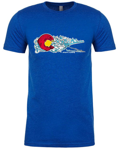 Colorado Rise T shirt Fly Fishing T shirt - Stripn Flywear