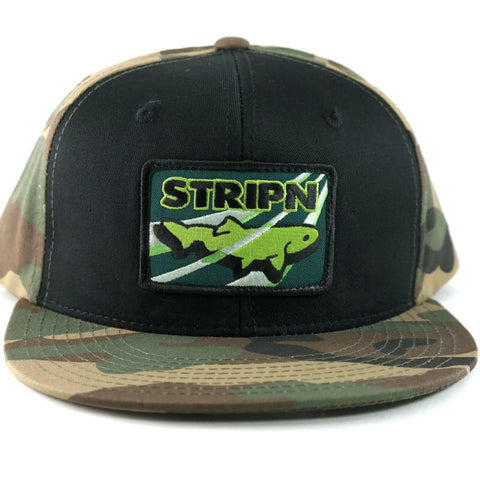 Camo Flatbill Snapback Fly Fishing Hat - Stripn Flywear