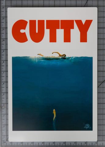 "CUTTY! Metal Print 12""x8"" $24 Yard Sale Art - Stripn Flywear"