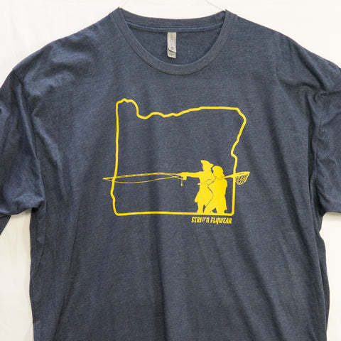 3XL Go West Oregon T shirt $9 Fly Fishing T shirt - Stripn Flywear