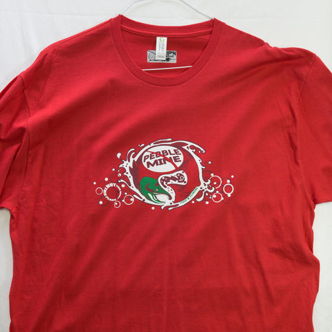 XXL No Pebble Mine Salmon T shirt $9 Fly Fishing T shirt - Stripn Flywear