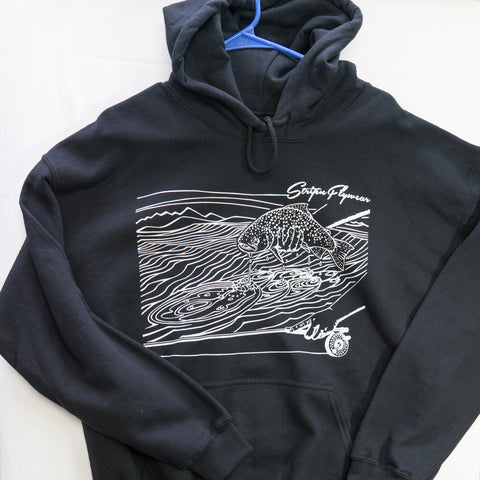 Large Ripples Hoody $20 Fly Fishing T shirt - Stripn Flywear