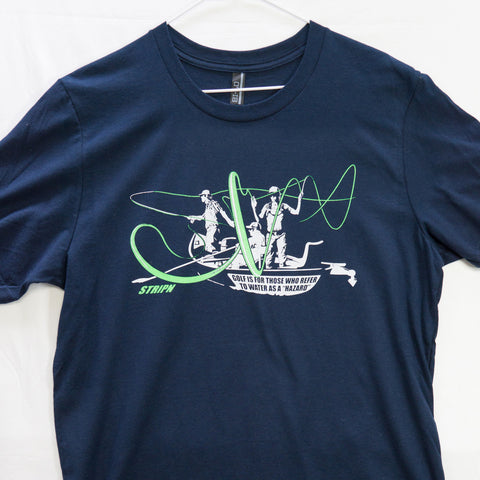 Large Hazard T shirt $8 Fly Fishing T shirt - Stripn Flywear