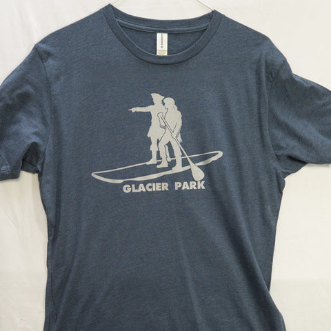 Large Lewis and Clark Glacier National Park T shirt (Organic) $8 Fly Fishing T shirt - Stripn Flywear