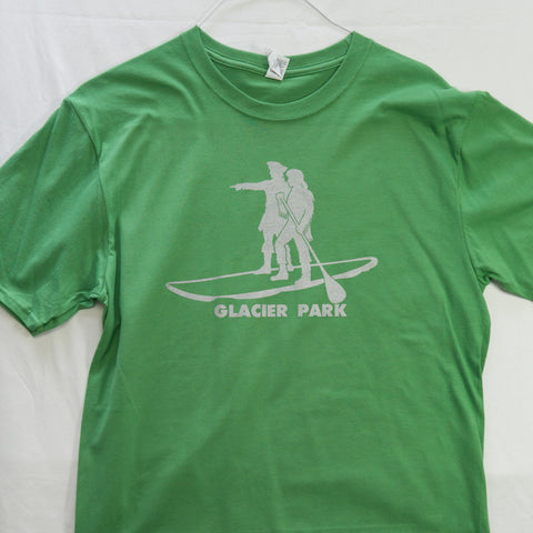Large Lewis and Clark SUP Glacier National Park T shirt $8 Fly Fishing T shirt - Stripn Flywear
