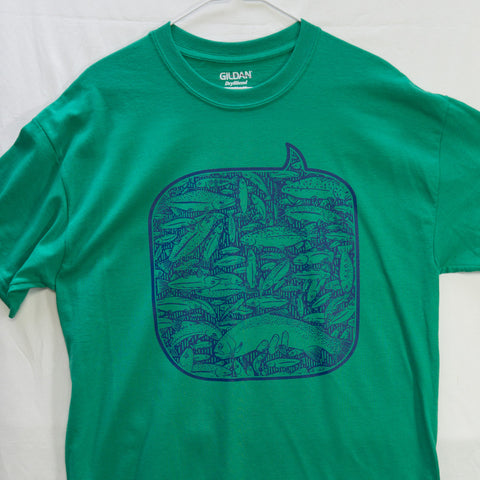 Large 100 Fish Day T shirt $8 Fly Fishing T shirt - Stripn Flywear