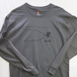 Large Banksy Long Sleeve $12 Fly Fishing T shirt - Stripn Flywear