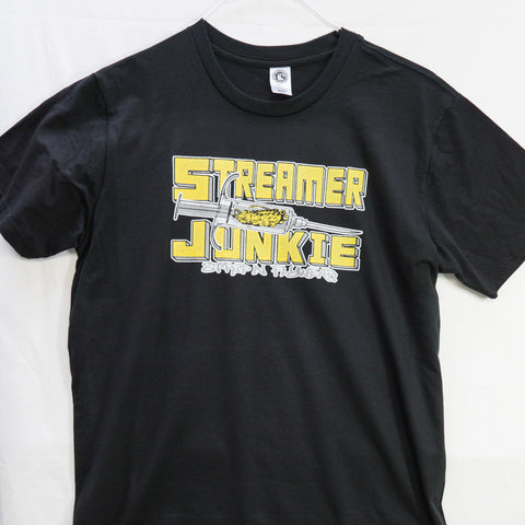 Medium Streamer Junky (Made in US) T shirt $9 Fly Fishing T shirt - Stripn Flywear