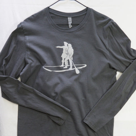Medium Lewis and Clark SUP Long Sleeve $12 Fly Fishing T shirt - Stripn Flywear