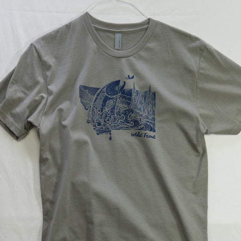 Medium Montana Splash T shirt $8 Fly Fishing T shirt - Stripn Flywear