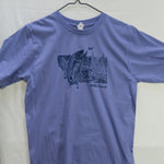 Medium Montana Splash (Organic cotton/poly) T shirt $9 Fly Fishing T shirt - Stripn Flywear