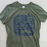 Medium 100 Fish Day T shirt $8 Fly Fishing T shirt - Stripn Flywear