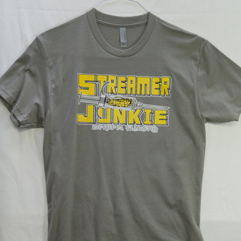 Small Streamer Junky T shirt $8 Fly Fishing T shirt - Stripn Flywear