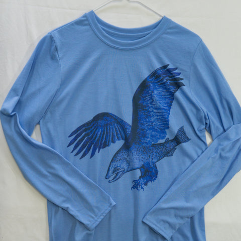 Medium Trout Eagle Long Sleeve $12 Fly Fishing T shirt - Stripn Flywear