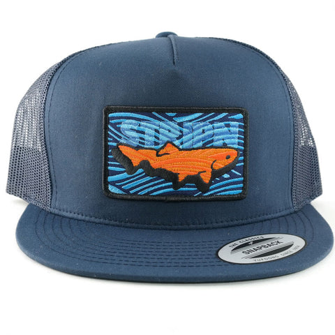 Flatbrim Trucker Patched Hat Fly Fishing Hat - Stripn Flywear