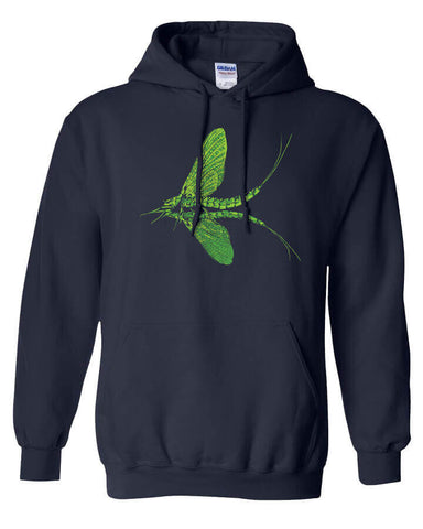 Green Drake Hoody Fly Fishing Hoody - Stripn Flywear