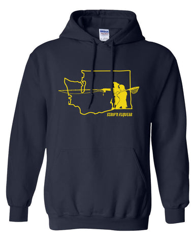 Go West Washington Hoody Fly Fishing Hoody - Stripn Flywear